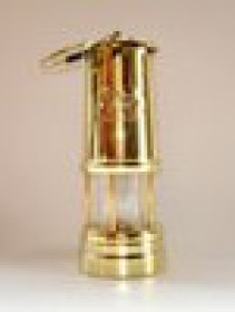 Large brass Welsh Miner's Lamp