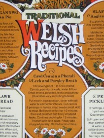 teatowels Welsh recipes