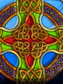 Celtic glass panel