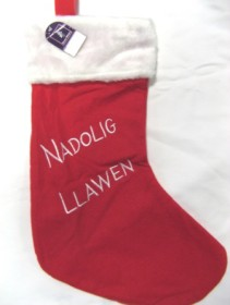 xmas stocking nadolig