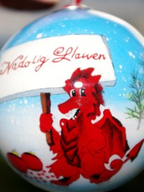 Welsh Christmas Tree Decoration