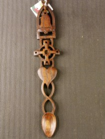lovespoon with cross